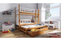 Łóżko piętrowe wysuwane 3 osobowe Nati łóżko z wysuwanym spaniem