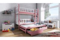 Łóżko piętrowe wysuwane 3 osobowe Nati łóżko dreniane bezsęczne