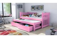 Łóżko dziecięce Swen wyjazdowe DPV 002 Certyfikat łóżeczko różowe
