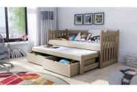 Łóżko dziecięce Swen wyjazdowe DPV 002 Certyfikat łóżeczko sosonowe