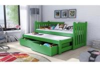 Łóżko dziecięce Swen wyjazdowe DPV 002 Certyfikat łóżeczko zielone