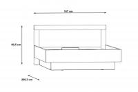 Łóżko sypialniane z pojemnikiem JLTL167-C289 Julietta łóżko ze schowkiem