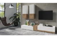 Meblościanka Power I Biały - sandal oak/Biały połysk - sandal oak 24BSJE10 meble salonowe