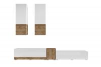Meblościanka Power I Biały - sandal oak/Biały połysk - sandal oak 24BSJE10 meblościanka do salonu