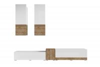 Meblościanka Power I Biały - sandal oak/Biały połysk - sandal oak 24BSJE10 meble w połysku