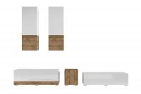 Meblościanka Power I Biały - sandal oak/Biały połysk - sandal oak 24BSJE10 meblościanka w połysku