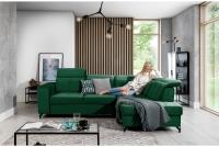 Narożnik z funkcją spania Belavio L nowoczesny narożnik w kolorze zielonym