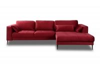 Narożnik z funkcją spania Luzi 2DL-REC/BK czerwony narożnik