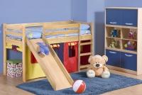 NEO PLUS - łóżko piętrowe ze zjeżdżalnią i materacem - sosna ( 4p=1szt ) neo plus - łóżko piętrowe ze zjeżdżalnią i materacem - sosna ( 4p=1szt )