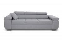 Nowoczesna sofa Annabelle II z regulowanymi podłokietnikami szara sofa