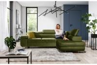 Nowoczesny narożnik Annabelle zielony narożnik do nowoczesnego salonu