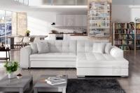 Moderná rohová sedacia súprava Sorento Biely Rohová sedacia súprava