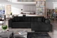 Moderná rohová sedacia súprava Sorento Čierny Rohová sedacia súprava w tkaninie