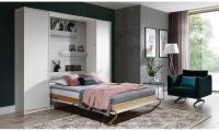 Półkotapczan pionowy 90x200 New Elegance - Biały połysk półkotapczna do salonu
