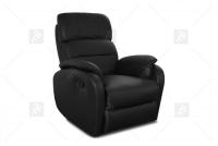 Rozkładany Fotel Amber z funkcją Relax - Tkanina szeroki fotel jednoosobowy
