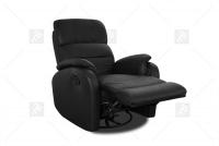 Rozkładany Fotel Amber z funkcją Relax - Tkanina fotel z kładzionym oparciem