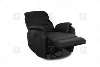 Rozkładany Fotel Amber z funkcją Relax - Tkanina fotel z regulacją zagłówków