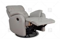 Rozkładany Fotel Amber z funkcją Relax - Tkanina fotel na wygodnym wkładzie