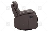 Rozkładany Fotel Amber z funkcją Relax - Tkanina obrotowy fotel biurowy w skórze naturalnej