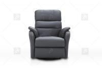 Rozkładany Fotel Amber z funkcją Relax - Tkanina fotel z mechanizmem obrotowym