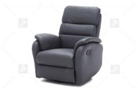 Rozkładany Fotel Amber z funkcją Relax - Tkanina wygodny fotel z opcją relax