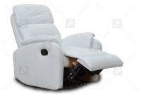 Rozkładany Fotel Amber z funkcją Relax - Tkanina jednoosobowe meble z funkją relaks