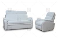 Rozkładany Fotel Amber z funkcją Relax - Tkanina komplet z funkją relaks