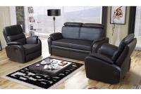Rozkładany Fotel Amber z funkcją Relax - Tkanina komplet gabinetowy w skórze