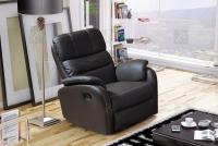 Rozkładany Fotel Amber z funkcją Relax - Tkanina fotel wykonany w skórze