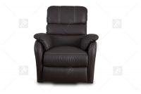 Rozkładany Fotel Amber z funkcją Relax - Tkanina skórzany fotel z miekkim siedziskiem