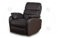 Rozkładany Fotel Amber z funkcją Relax - Tkanina skórzane meble z przeszyciami