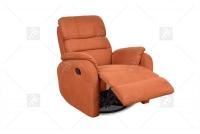 Rozkładany Fotel Amber z funkcją Relax - Tkanina fotel z podnoszonym podnóżkiem