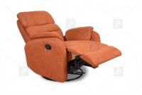 Rozkładany Fotel Amber z funkcją Relax - Tkanina fotel relax tkanina