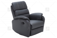 Rozkładany Fotel Amber z funkcją Relax - Tkanina fotel z wysokim oparciem