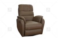 Rozkładany Fotel Amber z funkcją Relax - Tkanina fotel w brązowym materiale