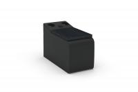 Segment prostokąt z półką i systemem audio Impressione TRSU Segment prostokąt z półką i systemem audio