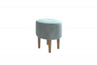 Fotel z podnóżkiem Hawk Podnóżek z elemantami drewna