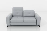 Sofa dwuosobowa z regulowanymi zagłówkami Belavio II sofa wypoczynkowa z wysokimi nóżakmi