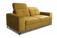 Sofa dwuosobowa z regulowanymi zagłówkami Belavio II sofa dwuosobowa w żółtym kolorze