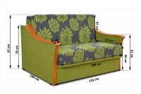 Sofa Irek II - ostatnia sztuka! sofa w tkaninę we wzory