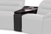 Sofa z półką i systemem audio Impressione 1L-TTSU-1P Segment trapez z półką