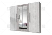 Szafa czterodrzwiowa do sypialni Vera 20 Arctic pine jasny/Arctic pine ciemny szafa otwierana z lustrem