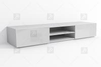 Szafka Briks RTV2 - Biały/Biały połysk - Wyprzedaż  białą szafka rtv do salonu