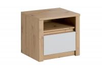 Szafka nocna z szufladą SN Malta Dąb artisan/Biały mat szafka z szufladą