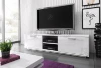 Nowoczesna szafka RTV Kimi mini - biały połysk biała szafka rtv
