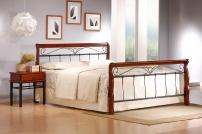 VERONICA łóżko 160 cm czereśnia ant./czarny veronica łóżko 160 cm czereśnia ant./czarny (4p=1szt.)