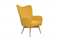 Zestaw Uszak Skandynawski Nordic II żółty fotel
